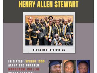 ALPHA RHO BROTHER HENRY ALLEN STEWART (Spring 1999) ENTERS OMEGA CHAPTER OF ALPHA PHI ALPHA