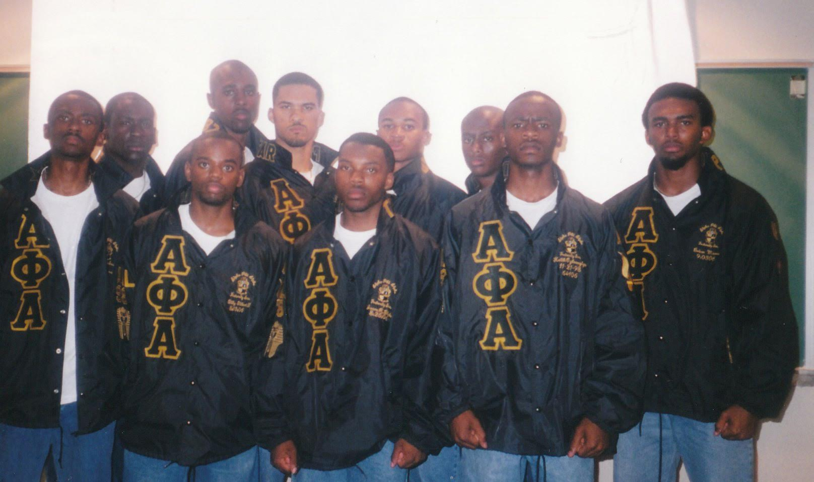 Step Team moment before the 1999 Homecoming Exhibition Step Show (picture taken in Nabrit-Mapp-McBay