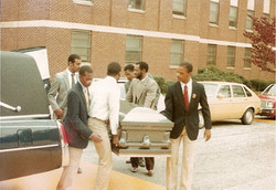 Coffin for Stephow in 1982