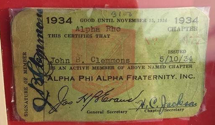 Alpha Rho Membership John B. Clemmons Ma