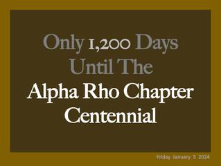 Alpha Rho Chapter Alumni Launch Countdown To Centennial Year In Final Lap Of Ten-Year Strategic Plan