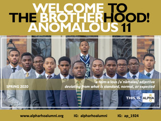 Alpha Rho Initiation Alert:  The Anomalous 11, Spring 2020