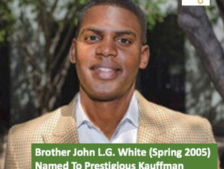 Brother John L.G. White (Spring 2005) Named To Prestigious Kauffman Fellows Program's 25th Class