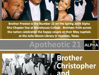 Congrats To Brother Christopher Preston -- Apotheotic 21 -- Spring 2009