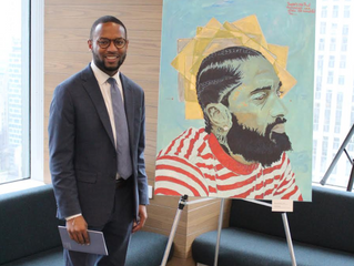 Brother Robert L. Newman III (Fall 2013) Curates And Exhibits At Neuberger Berman's 80th Anniver