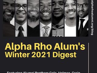 Alpha Rho Chapter Alumni Association's Winter 2021 Digest