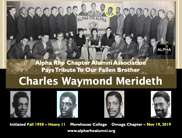 Charles Waymond Meridith Omega Chapter F