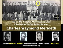 Charles Waymond Meridith Omega Chapter F
