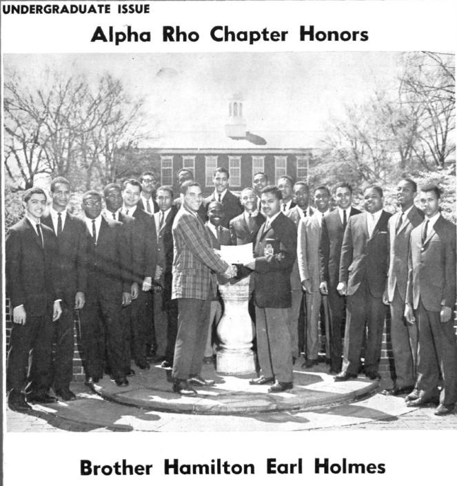 Alpha Rho w_ Hamilton Earl Holmes in 1961