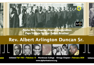 3 Omega Chapter Alerts From 1960s Alpha Rho:  Brothers MARION FYE (Fall 1964), ALBERT DUNCAN (Fall 1
