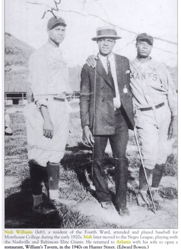 Nish Williams with Giants teammates