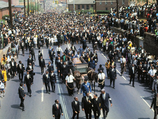 MLK 51 Years Lost -- Alpha Rho Chapter Brothers Escort Brother King Along His Funeral Procession To