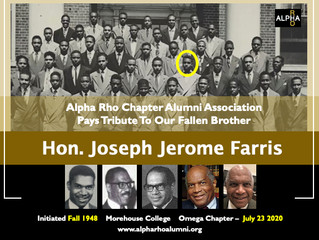 Alpha Rho Chapter Alumni Association Pays Tribute To Our Fallen Brother -- Hon. Joseph Jerome Farris