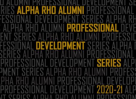Alpha Rho Alumni Launch Intergenerational Professional Development Series