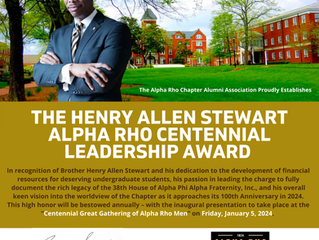 APCAA Names Centennial Leadership Award In Honor Of Brother Henry Allen Stewart (Spring 1999)