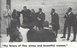 Alpha Rho on yard in 1966
