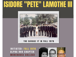 """OMEGA CHAPTER ALERT FOR BROTHER ISIDORE J. """"PETE"""" LAMOTHE III -- Fall 1970"""