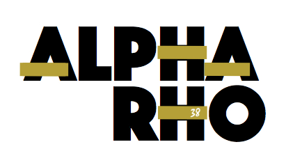 Alpha Rho 38th logo