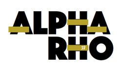 Alpha Rho 38th logo