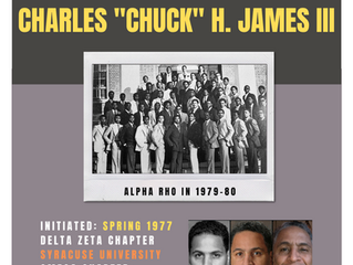 """BROTHER CHARLES """"CHUCK"""" H. JAMES III ENTERS OMEGA CHAPTER OF ALPHA PHI ALPHA FRATERNITY, INC."""