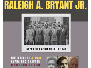 OMEGA CHAPTER ALERT FOR BROTHER RALEIGH A. BRYANT, JR. -- Fall 1945