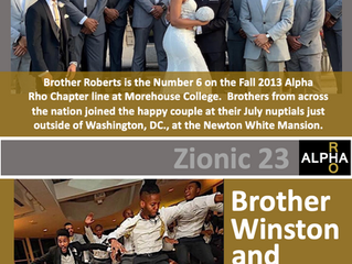 Congrats To Brother Winston Roberts -- Zionic 23 -- Fall 2013