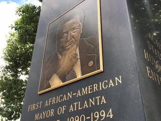 Monument To Legendary Atlanta Mayor Maynard Holbrook Jackson Unveiled In Oakland Cemetery (Spring 19
