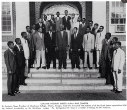 Alpha Rho w_ President Benjamin Mays in 1958