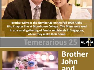 Congrats To Brother John Mims -- Fall 1979 -- Temerarious 25