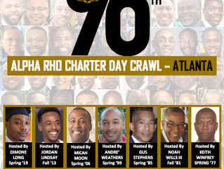 Please RSVP Today -- Alpha Rho Chapter's 96th Charter Day In ATLANTA