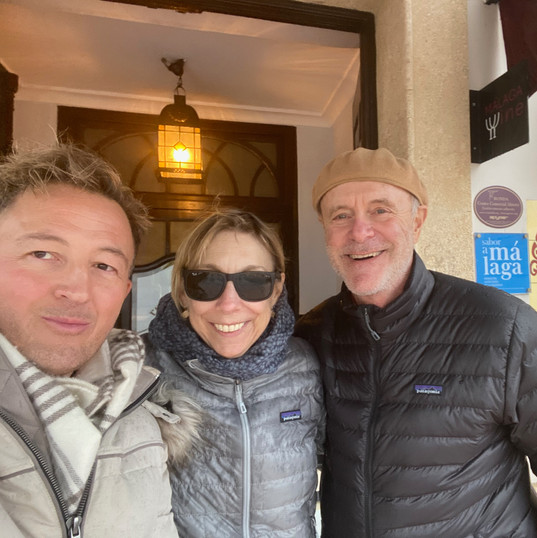 With actor Michael Bofshever and his wife, Celia.
