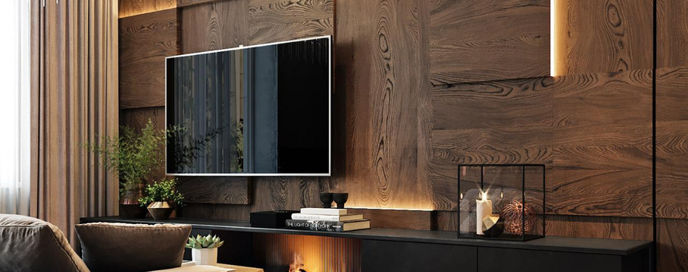 Individual TV Zone with Lights