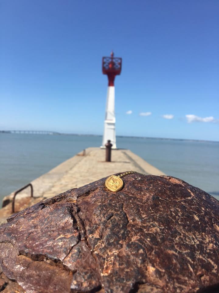 La médaille de Saint-martin à l'ile de ré !