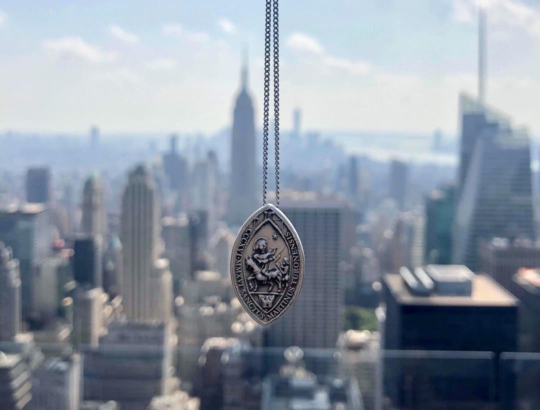 La médaille de Saint-martin à NewYork
