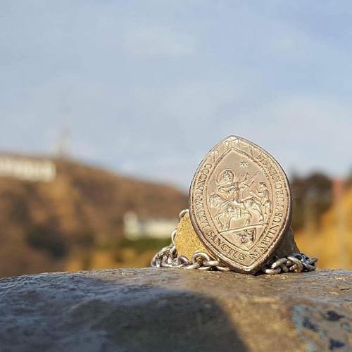 La médaille de Saint-martin à Hollywood