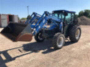 2002 New Holland TN75D MFWD Tractor Load