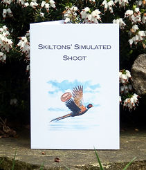 simulated game card, shoot card, clay pigeon shooting, pheasant shooting, game card, shoot cards