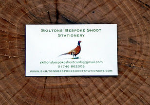 Gun cabinet magnet, pheasant card, business card, game shooting, partridge, grouse, duck, stationery, shoot cards, game cards