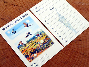 shoot card, game card, pheasant card, pheasant shoot, grouse shoot, guns, game, personalised card