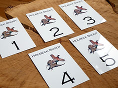 metal peg sign, weatherproof peg card, pheasant game shoot, pheasant peg sign