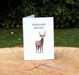 Bespoke stag shoot card, shoot card, game card, pheasant shoot