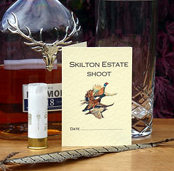 shoot cards, game cards, pheasant stationery, game shooting, pheasant shoot