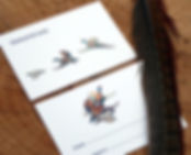 Shoot cards, shooting cards, bespoke personalised, pheasant, partridge, duck, guns, bag, quarry, game cards