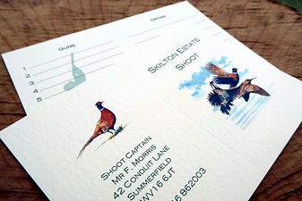 shoot card, game card, pheasant, game bird, game keeping, pheasant shoot