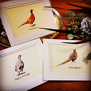 shot cards, gamebird print, wedding table names, pheasant print, pheasant artwork, pheasant wedding,
