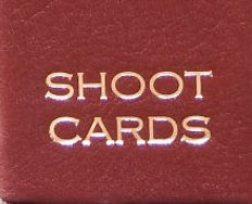 Bespoke shoot card leather handmade storage album pheasant game shoot, game cards