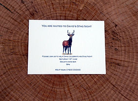 Stag invitation, pheasant stationery, shoot cards, wedding stationery, game cards