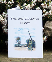 simulated game card, clay pigeon shooting, bespoke cards