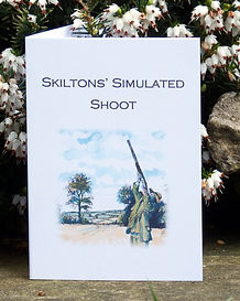 simulated shoot card, clay pigeon shoot card, bespoke game card