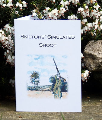 simulated game card, shoot card, game shooting, bespoke cards, game card